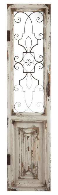 Wood And Metal Door Panel Wall Decor Sculpture