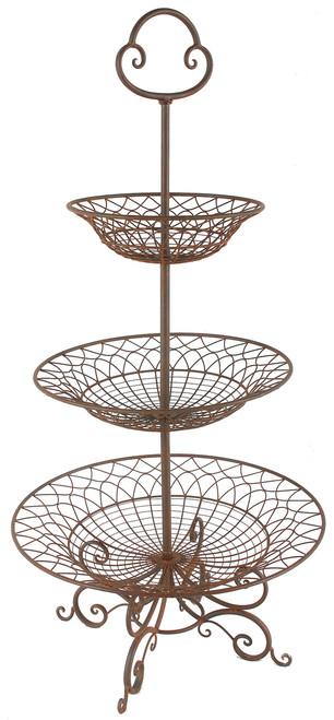 "3-Tier Metal Basket/Planter/Tray D26""X52"""