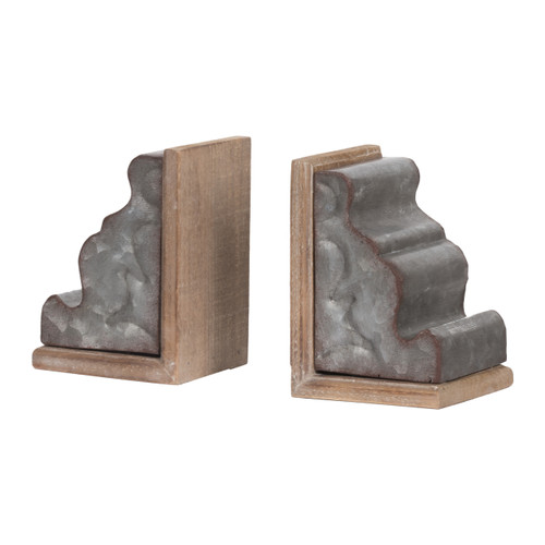 Marna Geode Bookends - Set of 2 Classic Vintage/Silver