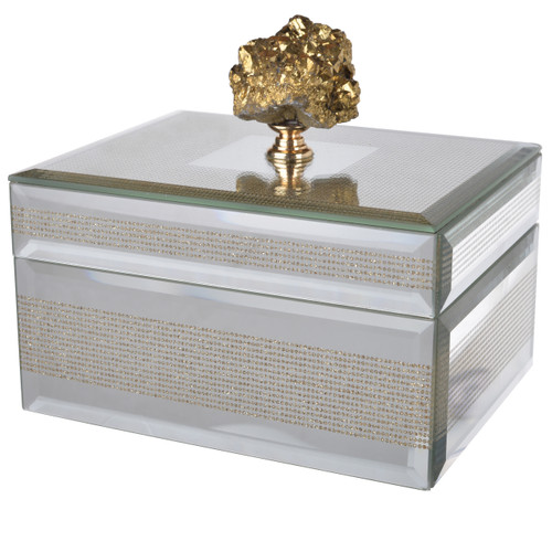 "Sullivan Striped Decorative Box 6""x5""x5.5"""