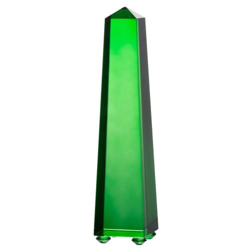"""Alighieri Green Obelisk Accent 2.5""""X2.5""""X12"""""""