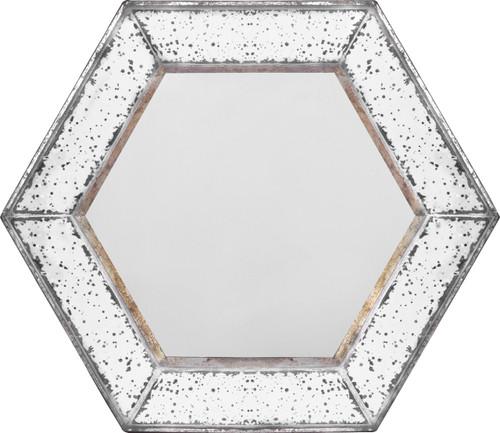 """Antique-Look Frameless Wall Mirror 21""""x21"""""""