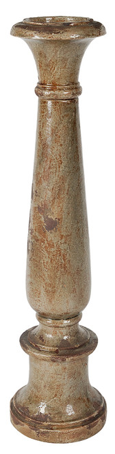 Light Brown Ceramic Pillar Candle Holder