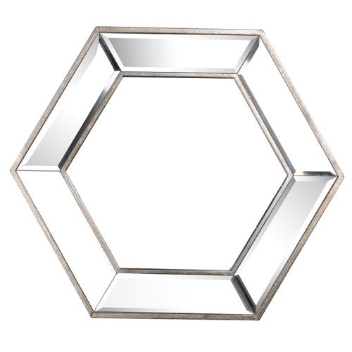 "Mirror Frame Hexagonal Wall Mirror 18""X20.5"""