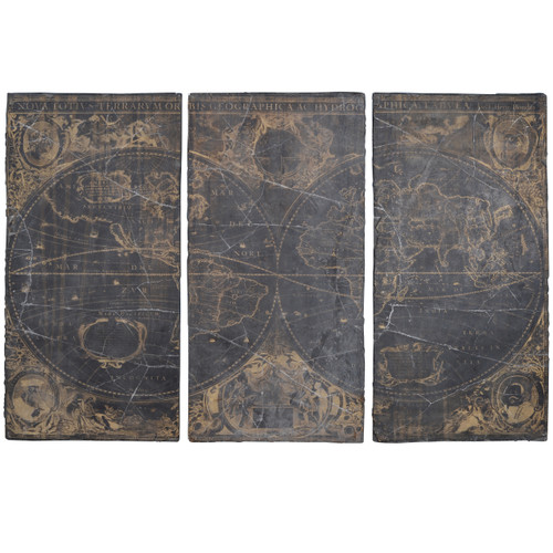 "Distressed Decorative Wall Panels 35X70"" Set Of 3"