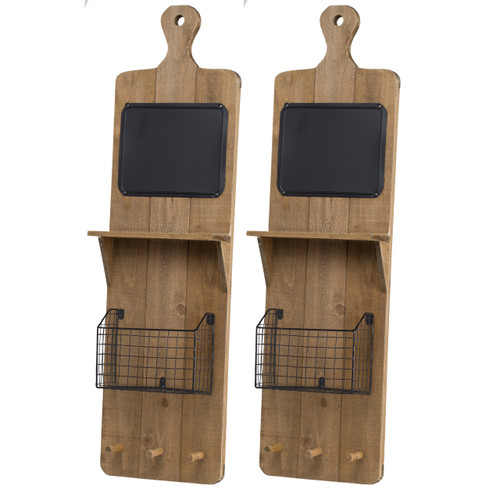 Ellery Shelf, Set of Two Wall Basket, Set of 2 Natural
