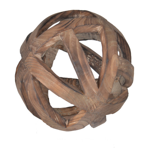 Decorative Wood Ball Ravello Orbs D8""