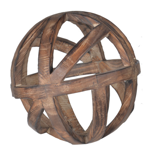 Decorative Wood Ball Ravello Orbs D10""