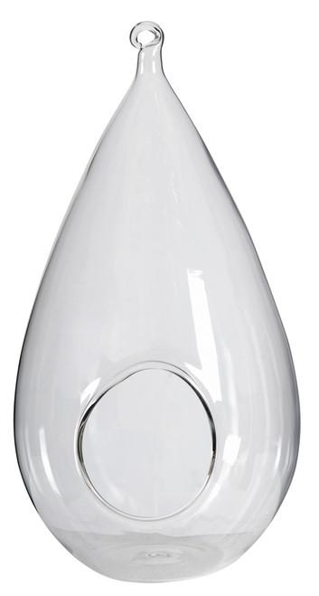 """Lot Of 3 Hanging Glass Terrarium / Candleholder 5.5""""X10"""""""