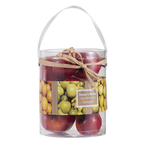9PC Realistic Artificial Red Delicious Apples