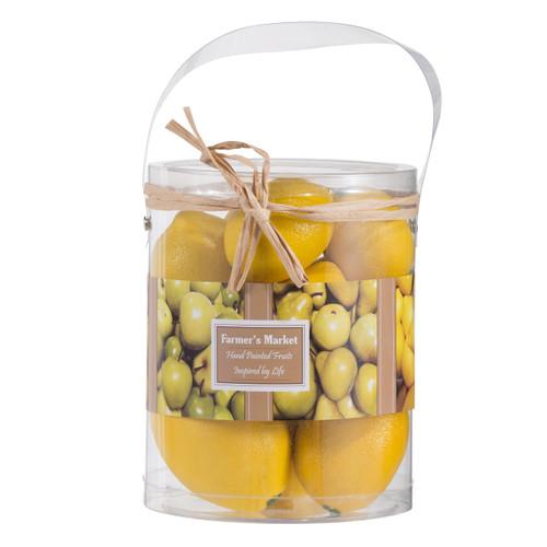 9pc Artificial Faux Fake Fruit Lemons In Box