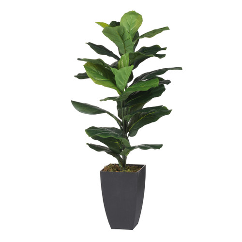 Artificial Potted Fiddle-Leaf Fig Plant, Green