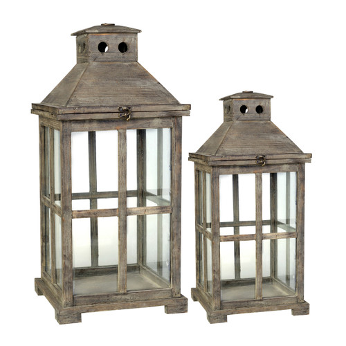 Candlelight lanterns might be needed less for daily function but they remain a classic stage for ambient lighting. The Graca Square Temple Garden Candle Lanterns have an antiqued finish and traditional shape and styling. Place in hallways or on outdoor dining tables.