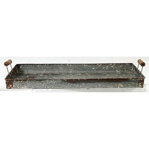 "Roux Rectangular Metal Tray 27x15.5x3.5"""