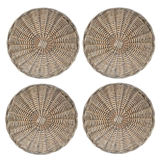 Set Of 4 Willow Weave Placemat / Cover D14""