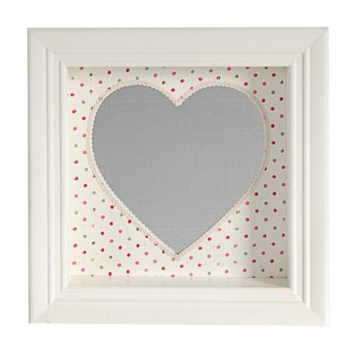 "Framed Heart-Shaped Wall Mirror 12x12"""