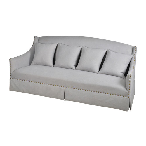 The Hibbard Sofa has a classic architecture and streamlined features with its single cushion. The Hibbard Sofa includes six accent pillows making this piece the picture of comfort.