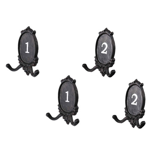 Set Of 4 Colona Double Coat Hooks 5.5x6.5""