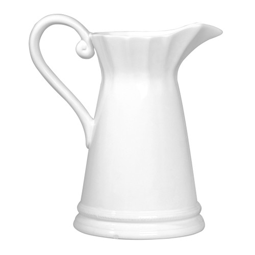 The Maisie Pitcher is traditionally styled. With an abundant handle for pouring and a simple, elegant design, the Maisie Pitcher goes well with any dishware collection. And, it will be used often.