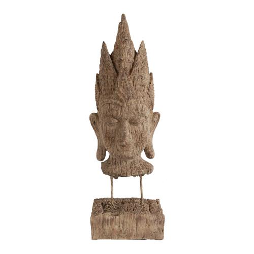 "Buddha Head Sculpture 5x3.5x15.4"""