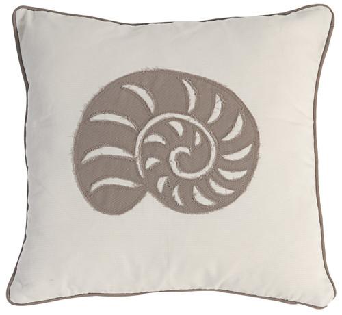 Pillow Whelk Seashell Design Red