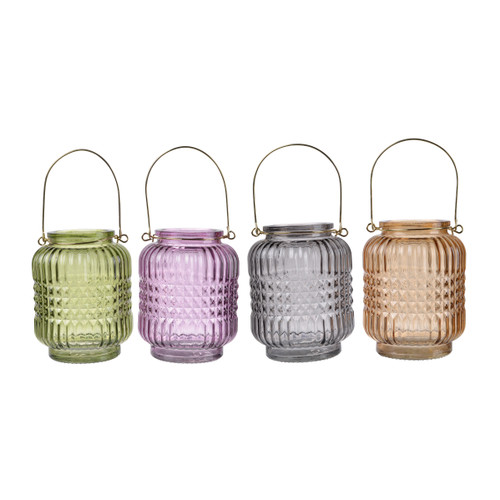 "Alma Candle Tealight Holder D4x5"" Set Of 4"