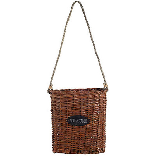 Willow Basket Bag with Belt 14x5x15""
