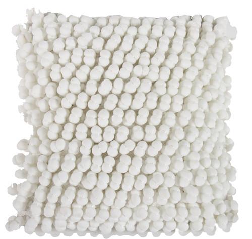 Polyester Cotton Knit Pillow, White