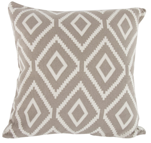 Cotton Cashmere-Like Pillow, Brown