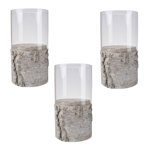 Set Of 3 India Candle Holder D4x7.5""