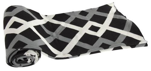 Cotton Cashmere-Like Throw Blanket, Black