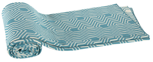 Cotton Cashmere-Like Throw Blanket, Turquoise
