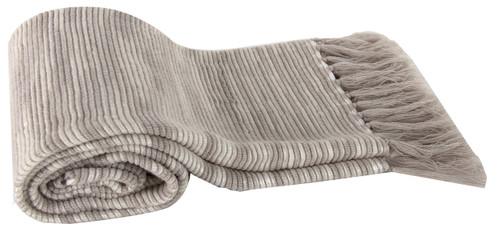 Heathered Acrylic Throw Blanket, Beige