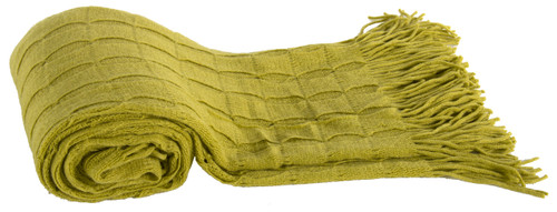 100% Acrylic Cashmere Throw Blanket, Green