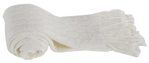 100% Acrylic Cashmere Throw Blanket, White
