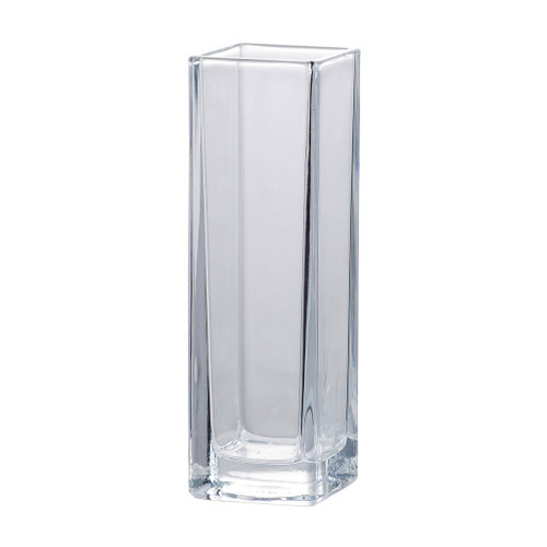 Simplicity lends minimalist elegance to this versatile glass vase. It comes in a square shape with some lean height to lighten up the silhouette. Display arrangements, foliage and flowers easily in this vase to make an instant centerpiece that will transform any room.