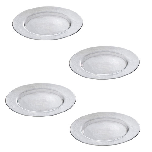 Set of 4 Glass Charger Plate D13
