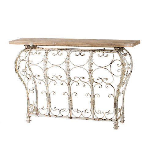 """Wood & Metal Console Table 55X18X39"""""""