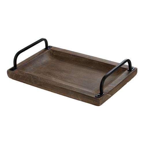 "Paulownia Wood Decorative Tray 18X12X4.5"""