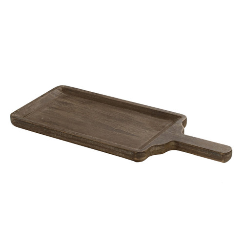"Paulownia Wood Decorative Tray 21.5X8.5X2"""