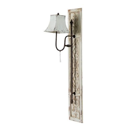 """Fir Wood & Iron Wall Lamp Sconce 12X16X55"""""""
