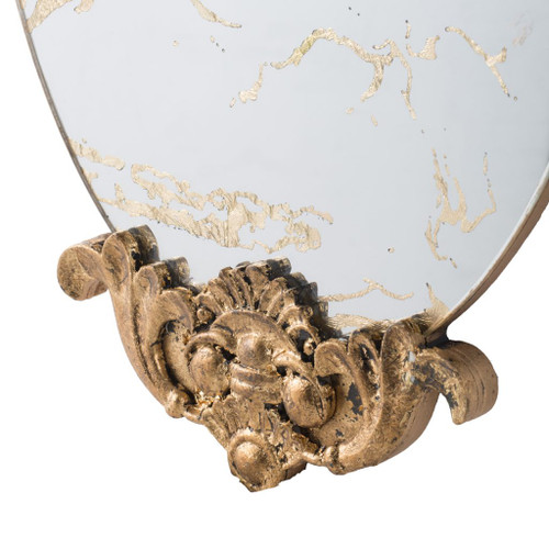 Antiqued Oval Wall Mirror 12x20.5""