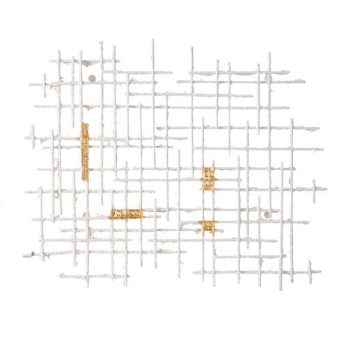"""Grid Patterned Geometric Wall Decor 32X1.5X26"""""""