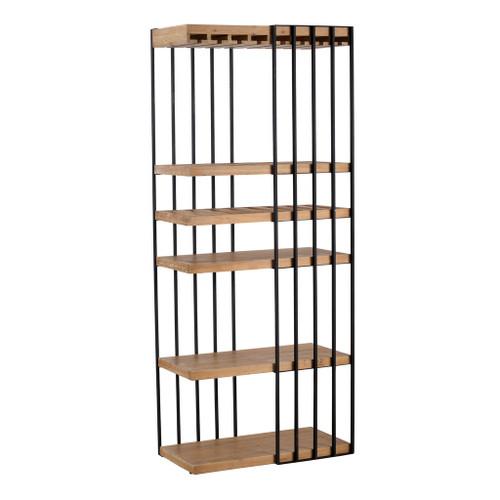 "Metal Wood Shelf 32X17X77"""