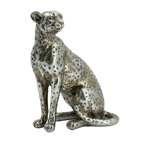 "Sitting Leopard Statue Table Decor 7x4.5x8.5"""