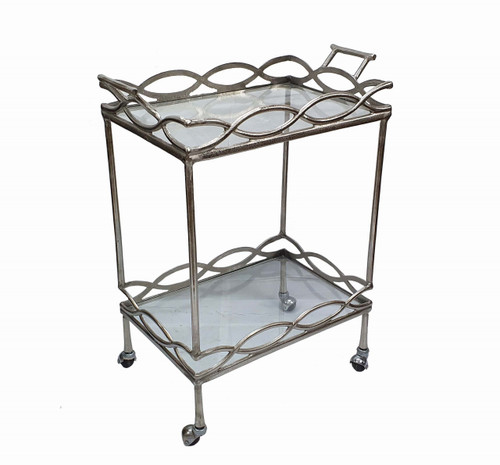 Aluminum Bar Cart 23.5x14x30""