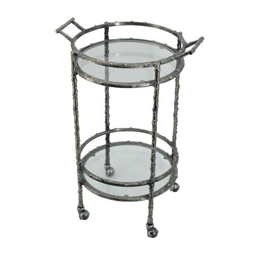 """Aluminum Twig 2 Tier Bar Cart 16x20x30"""""""