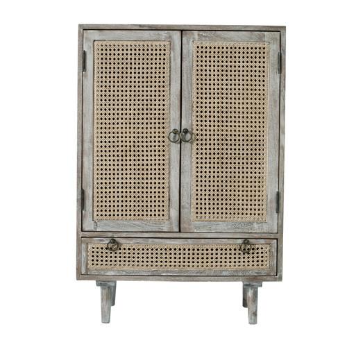"Storage Cabinet With Cane 2-Doors 26x14x38"""