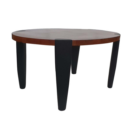 "Mango Wood & Iron Oval  Coffee Table 35x24x17"""