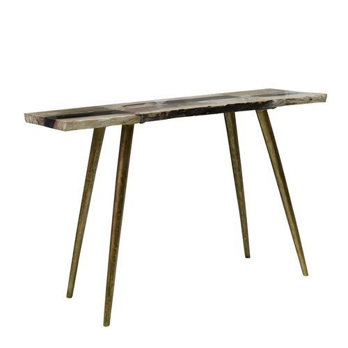 """Petrified Wood Top Console Table 47x15.5x31.5"""""""